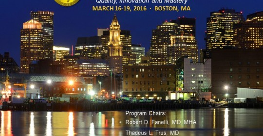 SAGES 2016 – Boston (MA) – USA